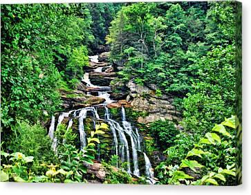 Cullasaja Falls Canvas Print by Kenny Francis
