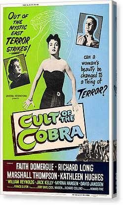 Cult Of The Cobra, L-r Kathleen Hughes Canvas Print by Everett