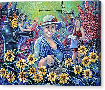 Cultivating The Arts Canvas Print by Gail Butler