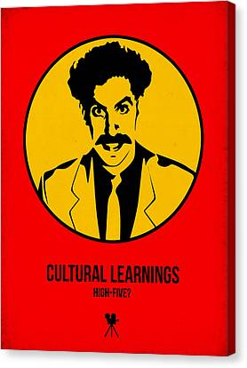 Cultural Learnings Poster 2 Canvas Print by Naxart Studio