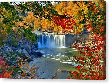 Cumberland Falls In Autumn 2 Canvas Print