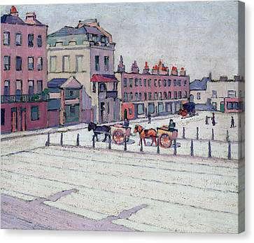 Cumberland Market North Side Canvas Print by Robert Polhill Bevan