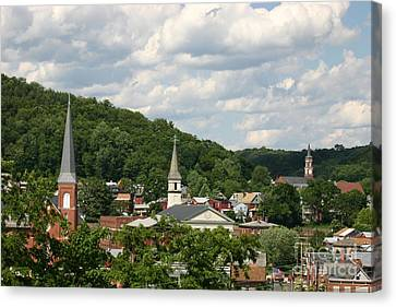 Cumberland Steeples Canvas Print by Jeannette Hunt
