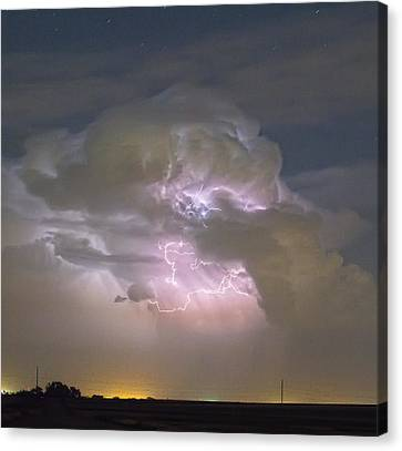 The Lightning Man Canvas Print - Cumulonimbus Cloud Explosion Portrait by James BO  Insogna