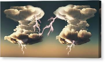 Cumulonimbus Storm Clouds Canvas Print by Mikkel Juul Jensen