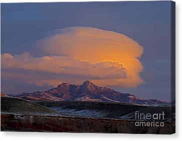 Cumulus Cloud Cap Over Heart Mountain   #2022 Canvas Print by J L Woody Wooden
