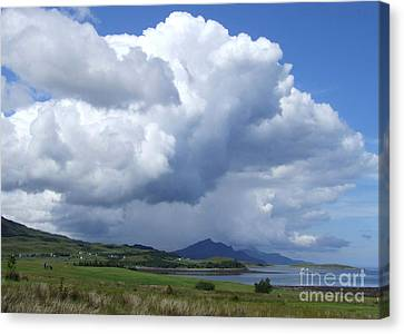Cumulus Clouds - Isle Of Skye Canvas Print by Phil Banks
