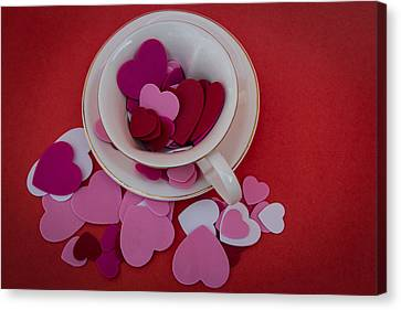 Canvas Print featuring the photograph Cup Full Of Love by Patrice Zinck
