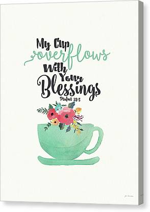 Cup Of Blessings Canvas Print by Jo Moulton