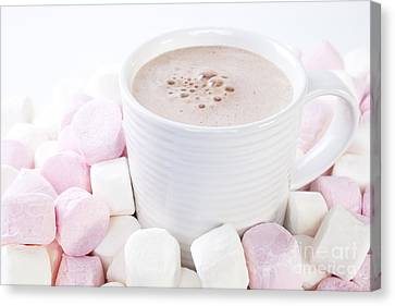 Cup Of Chocolate And Marshmallows Canvas Print by Colin and Linda McKie