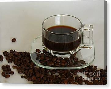 Cup Of Java Canvas Print by Inspired Nature Photography Fine Art Photography