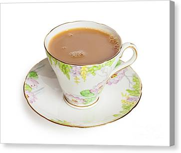 Bones Canvas Print - Cup Of Tea  by Colin and Linda McKie