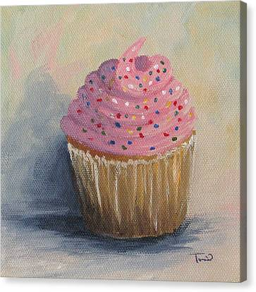 Cupcake 004 Canvas Print by Torrie Smiley