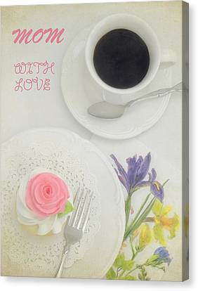 Cupcake And Coffee For Mom Canvas Print by Sandi OReilly