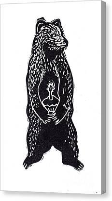 Cupcake Bear Canvas Print by Coralette Damme