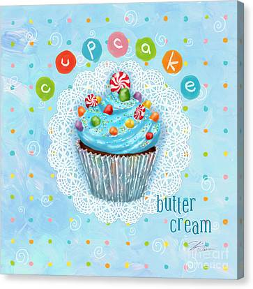 Cheese Canvas Print - Cupcake-butter Cream by Shari Warren