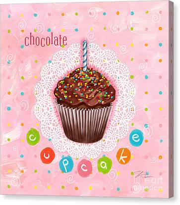 Cheese Canvas Print - Cupcake-chocolate by Shari Warren