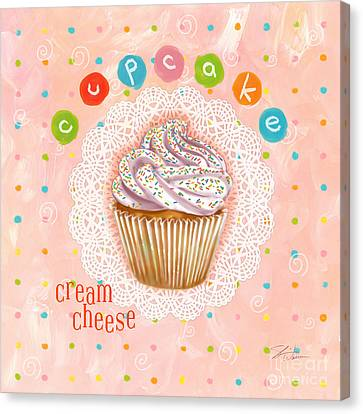 Cupcake-cream Cheese Canvas Print by Shari Warren