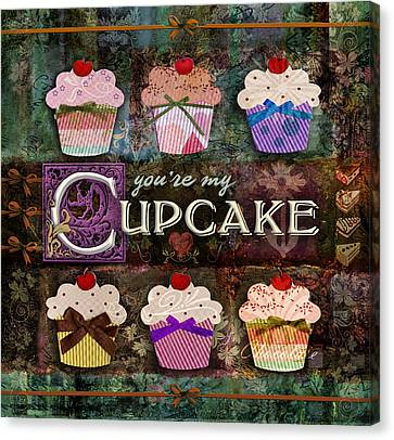 Cupcake Canvas Print by Evie Cook