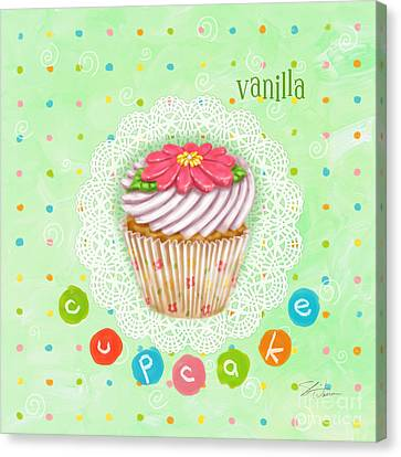 Cheese Canvas Print - Cupcake-vanilla by Shari Warren