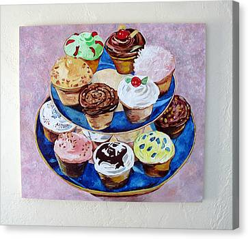 Cupcakes Canvas Print by Marianne Clancy