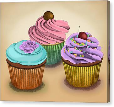 Food Canvas Print - Cupcakes by Meg Shearer
