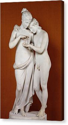 Pedestal Canvas Print - Cupid And Psyche by Antonio Canova
