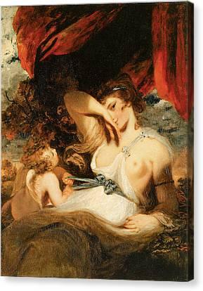 Cupid Untying The Zone Of Venus Canvas Print by Joshua Reynolds