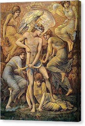 Love Making Canvas Print - Cupids Hunting Fields by Edward Burne Jones