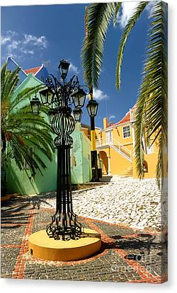 Colonial Canvas Print - Curacao Colorful Architecture by Amy Cicconi