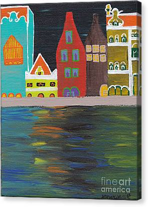 Curacao Nights Canvas Print by Melissa Vijay Bharwani