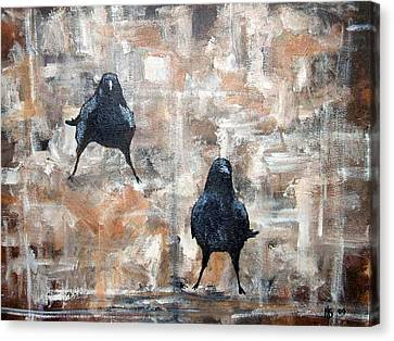 Curious Crows  Canvas Print