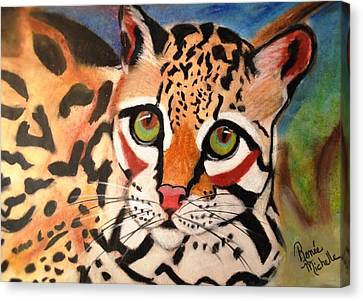Curious Ocelot Canvas Print by Renee Michelle Wenker