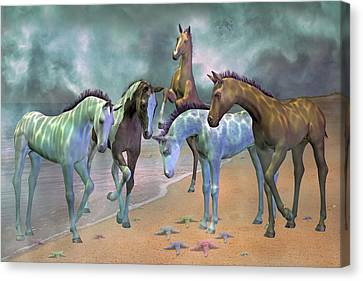 Curious Ones Canvas Print by Betsy Knapp