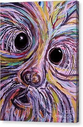 Curious Schnauzer Canvas Print by Eloise Schneider