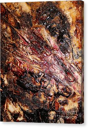 Canvas Print featuring the painting Curl Up And Dye by Lucy Matta