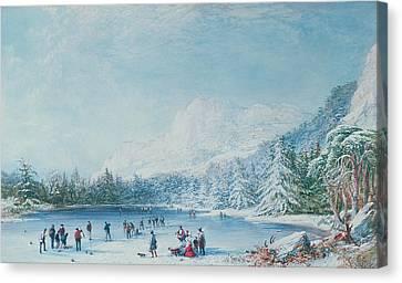 Curling Canvas Print by Bernard Walter Evans