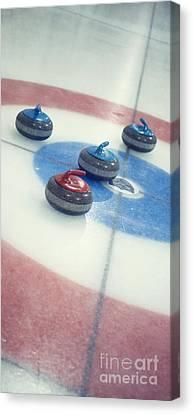 Curling Stones Canvas Print