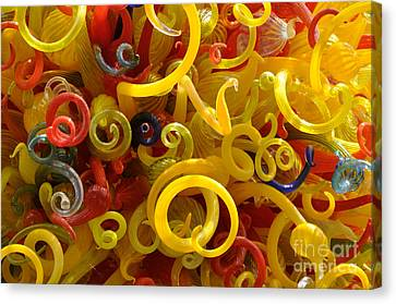 Curly Glass Canvas Print by Cheryl McClure
