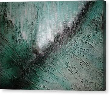 Canvas Print featuring the painting Current Of Greens by Tamara Bettencourt