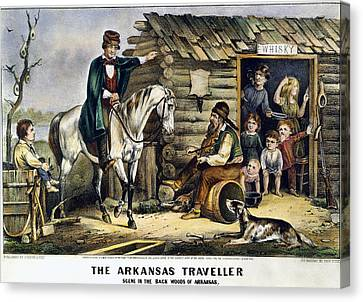 Currier & Ives The Arkansas Traveler Canvas Print by Granger