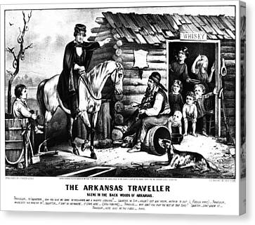 Arkansas Canvas Print - Currier & Ives The Arkansas Traveller by Granger