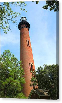Currituck Beach Lighthouse Corolla North Carolina Outer Banks Obx Canvas Print by Design Turnpike