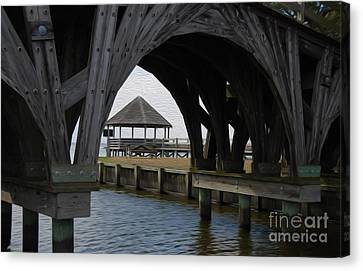 Canvas Print featuring the digital art Currituck Inlet by Kelvin Booker