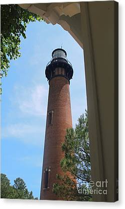Currituck Light 2 Canvas Print by Cathy Lindsey