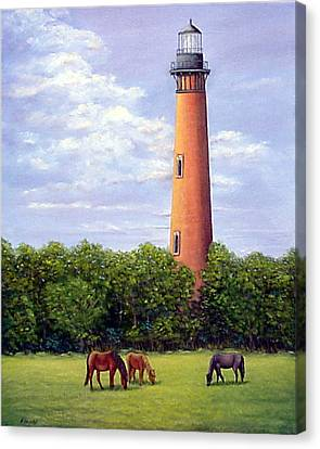 Currituck Lighthouse Canvas Print by Fran Brooks