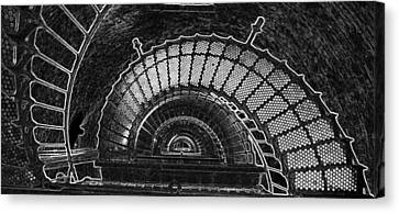 Canvas Print featuring the photograph Currituck Lighthouse Stairs by Greg Reed
