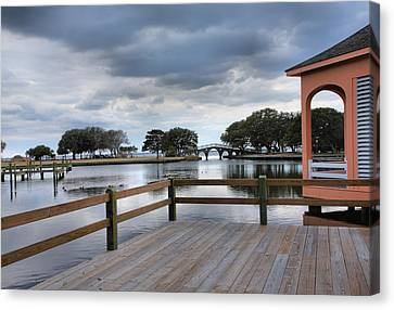 Currituck Sound Boardwalk II Canvas Print by Steven Ainsworth