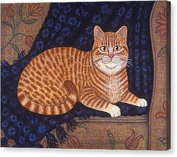 Curry The Cat Canvas Print by Linda Mears