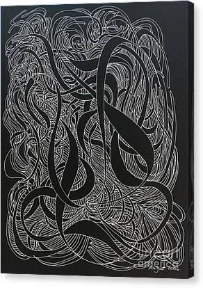 Cursive Curious 2 Canvas Print by Nancy Kane Chapman